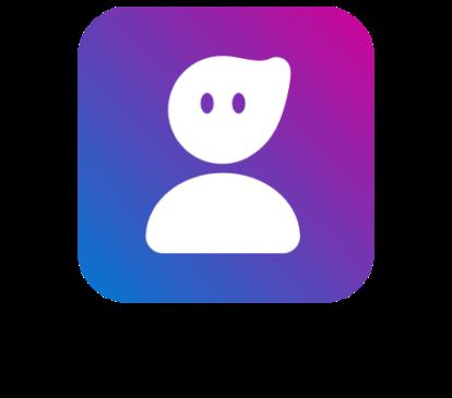 berufswahlapp Logo mit freundlichem Avatar und Claim Dein Weg. Deine Chance.